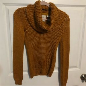 Anthro Angel of the North Fitted Cowl Neck Sweater